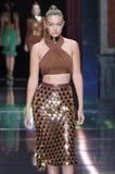 Gigi Hadid walks the runway during the Balmain show Stock Photos