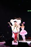 Gigi Leung performs on stage at her concert Stock Photos