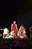 Gigi Leung performs on stage at her concert Stock Photo