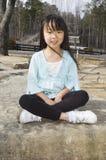 Gigi sur les roches Photographie stock