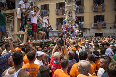 The Gigli Feast. NOLA, ITALY - JUNE 28, 2015: the Gigli Feast is a popular festival in Nola, Italy during of the celebrations for St.Paul. It consists of a Stock Photos