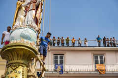 The Gigli Feast. NOLA, ITALY - JUNE 28, 2015: the Gigli Feast is a popular festival in Nola, Italy during of the celebrations for St.Paul. It consists of a royalty free stock photo