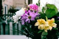 Gigli gialli in un vaso Fotografia Stock Libera da Diritti