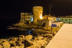 Giglio海岛历史建筑学  免版税图库摄影