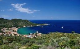 Giglio海岛海湾, Giglio海岛,意大利 库存照片