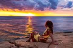 Giglio海岛,意大利 免版税库存图片