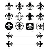 Giglio araldico - progettazione francese di simbolo, organizzazioni d'esplorazione, heralry francese illustrazione di stock