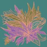 Giglio astratto flowers2 illustrazione vettoriale