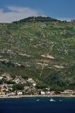Giglio Campese和Giglio Castello村庄, Giglio海岛,意大利 库存照片