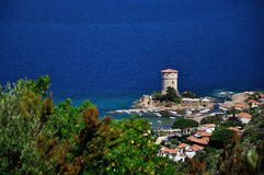 Giglio Campese sea view, Giglio Island, Italy royalty free stock photography