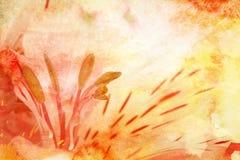 Giglio dell'acquerello illustrazione vettoriale