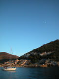 Giglio island at dusk Stock Image