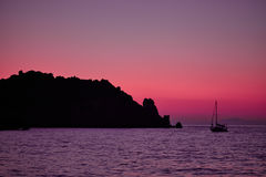 Giglio Island Sea At Dusk royalty free stock image
