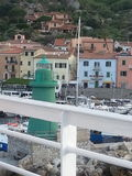 Giglio Porto viewed by the boat Stock Photography