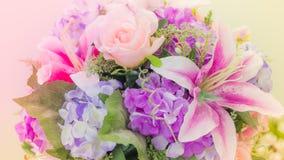 Giglio rosa per fondo Fotografie Stock