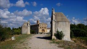 Gignac Chemin De Croix Opactwo i pielgrzymów sposób w Francja zbiory