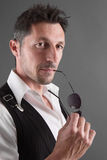 Gigolo - good looking man - cool Stock Images
