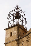 Gigondas church belfry. Belfry of Ste. Catherine church in Gigondas, Vaucluse, France royalty free stock photos