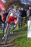 GIJÓN, ESPAÑA - 9 DE ENERO: Campeonatos España de Cyclocross en Janu foto de archivo libre de regalías