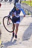 GIJÓN, ESPAÑA - 9 DE ENERO: Campeonatos España de Cyclocross en Janu imágenes de archivo libres de regalías