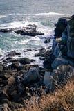 Gijon απότομος βράχος Στοκ φωτογραφία με δικαίωμα ελεύθερης χρήσης