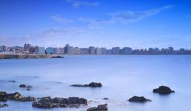 Gijon, αστουρίες, Ισπανία. Στοκ Εικόνες