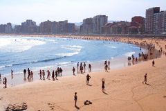 Gijon. Asturias,Spain royalty free stock image