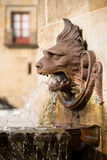 Lion fountain in Gijon - Spain Stock Photos