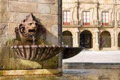 Marques Espagne de plaza de Gijon Images libres de droits