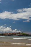 Gijon beach Stock Image