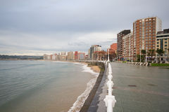 Gijon beach Royalty Free Stock Images