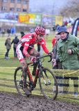 GIJON, ESPANHA - 11 DE JANEIRO: Espanha dos campeonatos de Cyclocross em janeiro Imagem de Stock