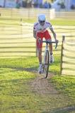 GIJON HISZPANIA, STYCZEŃ, - 9: Cyclocross mistrzostwa Hiszpania w Janu Obraz Royalty Free