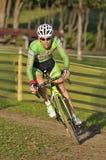 GIJON HISZPANIA, STYCZEŃ, - 9: Cyclocross mistrzostwa Hiszpania w Janu Zdjęcia Stock