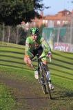 GIJON HISZPANIA, STYCZEŃ, - 9: Cyclocross mistrzostwa Hiszpania w Janu Obrazy Royalty Free