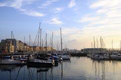 Gijon marina in North Spain Royalty Free Stock Photos