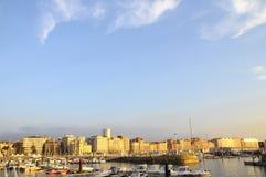 Gijon marina in North Spain Stock Photo