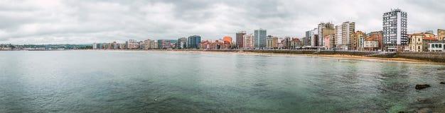 Gijon panorama, Asturias region, Hiszpania Zdjęcie Stock