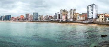 Gijon panorama, Asturias region, Hiszpania Fotografia Royalty Free