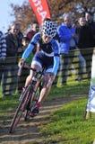 GIJON, SPAGNA - 9 GENNAIO: Campionati Spagna del ciclo-cross in Janu Fotografie Stock Libere da Diritti