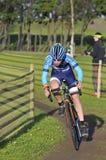 GIJON, SPAGNA - 9 GENNAIO: Campionati Spagna del ciclo-cross in Janu Fotografia Stock Libera da Diritti