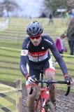 GIJON, SPAIN - JANUARY 11: Cyclocross Championships Spain in Jan Royalty Free Stock Photography