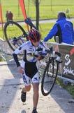 GIJON, SPANIEN - 9. JANUAR: Cyclocross-Meisterschaften Spanien in Janu Stockbilder
