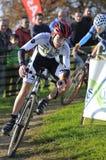 GIJON SPANIEN - JANUARI 9: Cyclocross mästerskap Spanien i Janu Royaltyfria Bilder