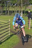 GIJON SPANIEN - JANUARI 9: Cyclocross mästerskap Spanien i Janu Royaltyfri Fotografi