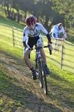 GIJON, SPANJE - JANUARI 9: Cyclocrosskampioenschappen Spanje in Janu Royalty-vrije Stock Fotografie
