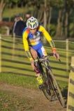 GIJON, SPANJE - JANUARI 9: Cyclocrosskampioenschappen Spanje in Janu Royalty-vrije Stock Afbeelding