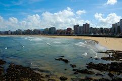 Gijon strand Royaltyfria Bilder