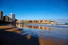 Gijon strand Royalty-vrije Stock Afbeelding
