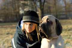 Gil con il cane Fotografia Stock